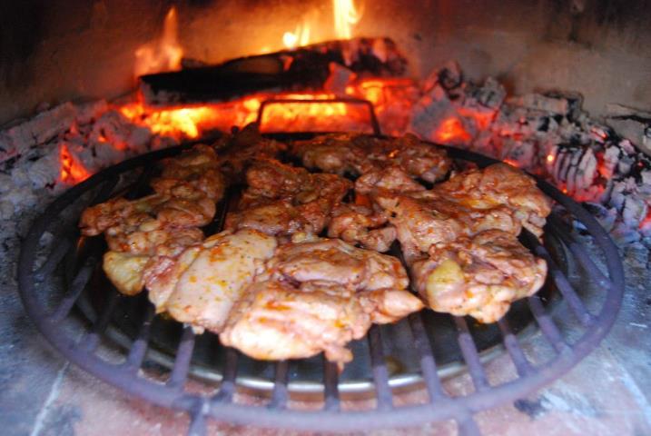 kip tandoori uit steenoven