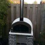 Pizzaoven Sfera Basso Nero Isolato