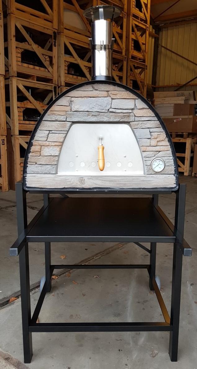 Pizzaoven Sfera Metallo Rustico op onderstel